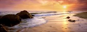 free sunset seashore nature facebook cover