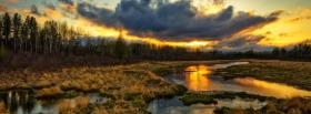 free sunset vaste forest nature facebook cover