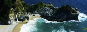 free waves rock nature facebook cover