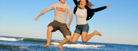free summer jumping nature facebook cover
