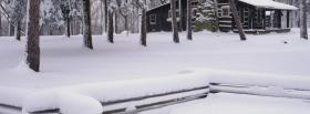 free snow scene nature facebook cover