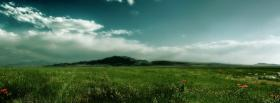 free vaste green field nature facebook cover