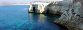 free white rocks ocean nature facebook cover