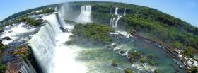 free wonderful waterfalls nature facebook cover