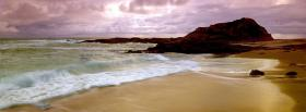free sunset wave nature facebook cover