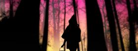 free pink sky walking nature facebook cover