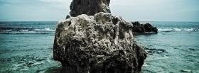 free rock ocean nature facebook cover