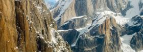 free snow and mountains nature facebook cover