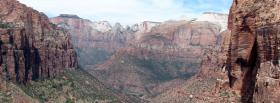free zion national park nature facebook cover
