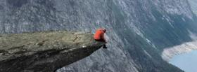 free alone on a cliff nature facebook cover
