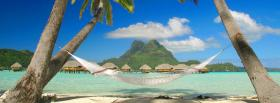 free hammock palm trees nature facebook cover