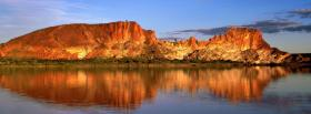 free orange mountains nature facebook cover