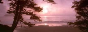 free pink sunrise nature facebook cover