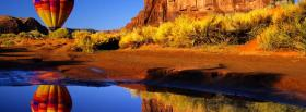 free flying balloon nature facebook cover