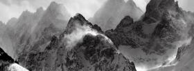 free black and white mountains facebook cover