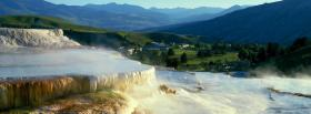 free waterfall scene nature facebook cover