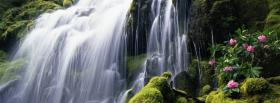 free flowers and waterfall nature facebook cover