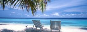 free beach and chairs nature facebook cover
