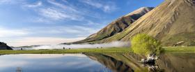 free lake mountain scene nature facebook cover