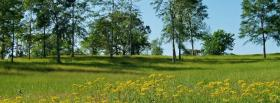 free vaste green scenery facebook cover
