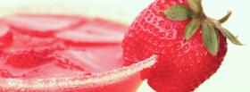 free strawberry martini facebook cover
