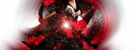 fashion woman with red lips facebook cover