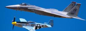 free f15 and mustang airplane facebook cover