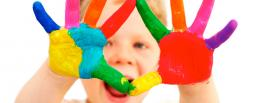 free baby finger painting facebook cover
