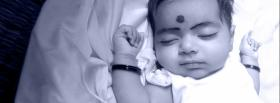 free indian baby sleeping facebook cover