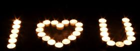 square shape from candles facebook cover