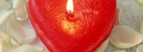free red heart candle facebook cover