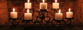 free white elegant candles facebook cover