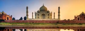 free panorama taj mahal castle facebook cover