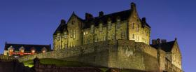 free night and edinburgh castle facebook cover