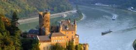 free rhine river germany castle facebook cover