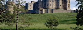 free alnwick castle and trees facebook cover