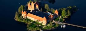 free on island trakai castle facebook cover