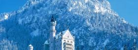 free winter snow and castle facebook cover