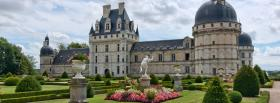 free beautiful valencay castle facebook cover