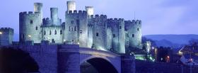 free dashing conwy castle facebook cover