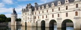 free french chenonceau castle facebook cover