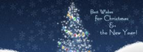 colorful christmas ornaments facebook cover