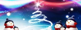 free snowmans and christmas tree facebook cover