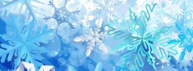 free snowflakes christmas facebook cover