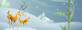 free reindeers in love facebook cover