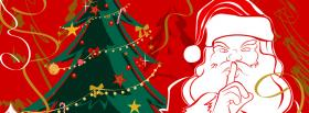 free santa claus tree christmas facebook cover