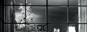 free black and white christmas facebook cover