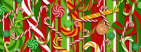 free christmas candy canes facebook cover
