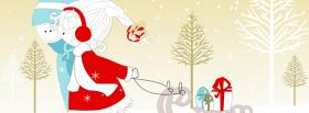 free couple in love for christmas facebook cover