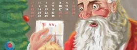 free surprised santa claus facebook cover